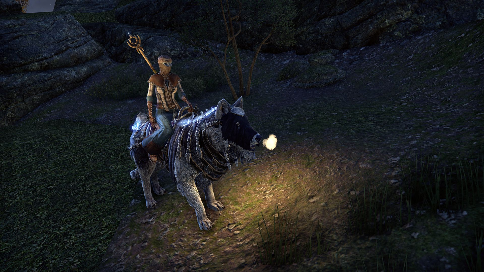Frostbane Wolf, Apex Mount, Scalecaller Crown Crate (image by Zenimax Online)