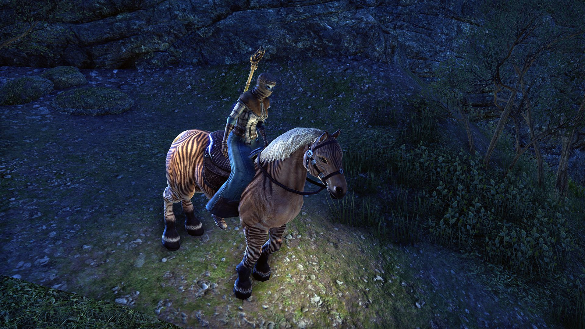 Pellitine Mustang, Legendary Mount, Scalecaller Crown Crate (image by Zenimax Online)