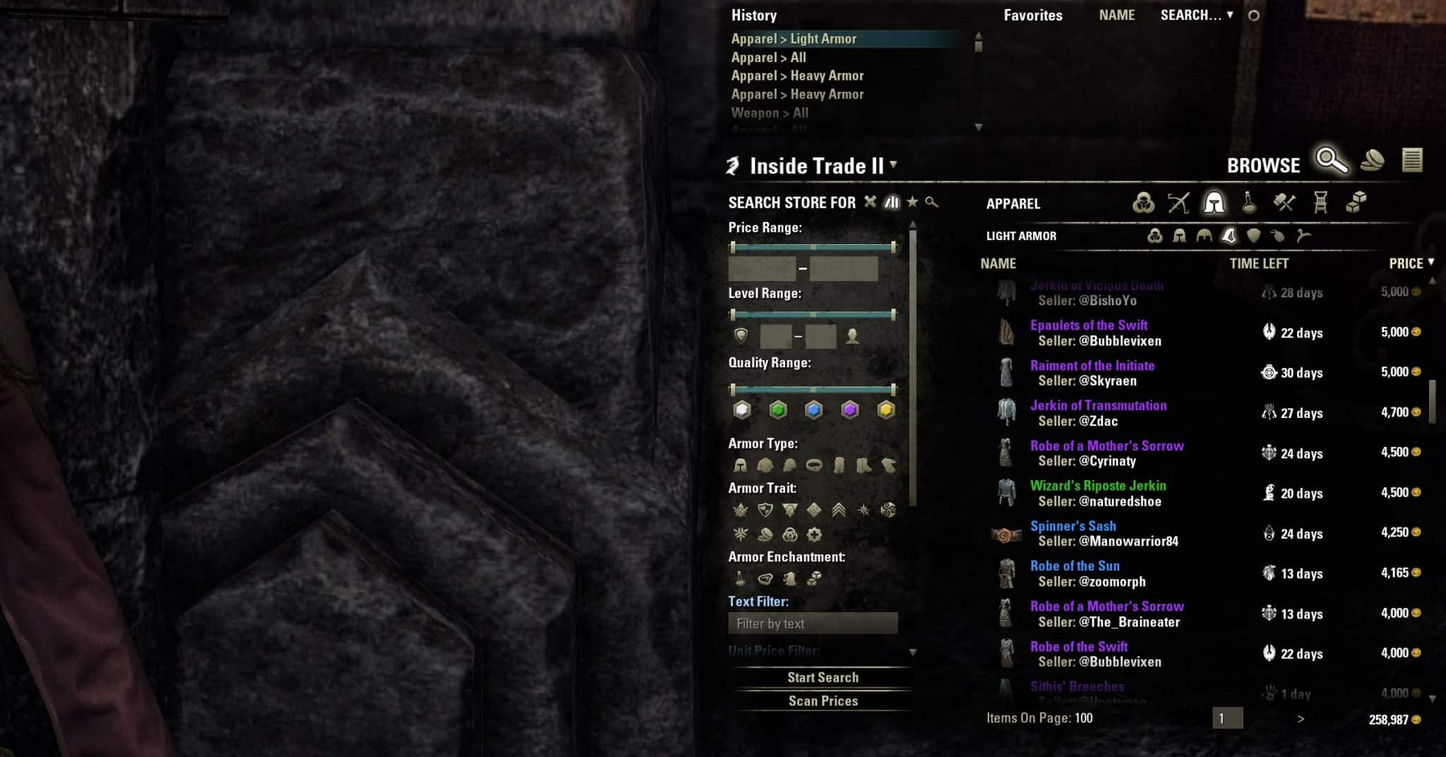 Eso Craft Store Addon