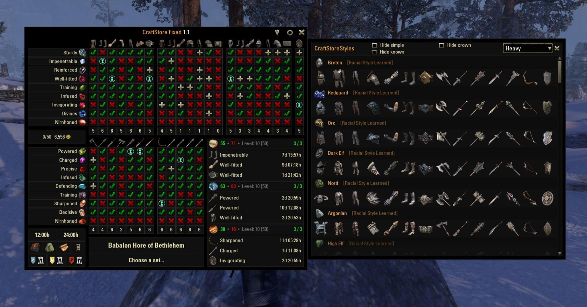 Craftstore DB by Rhyono, The Elder Scrolls Online Addon (image by @serpentaa)