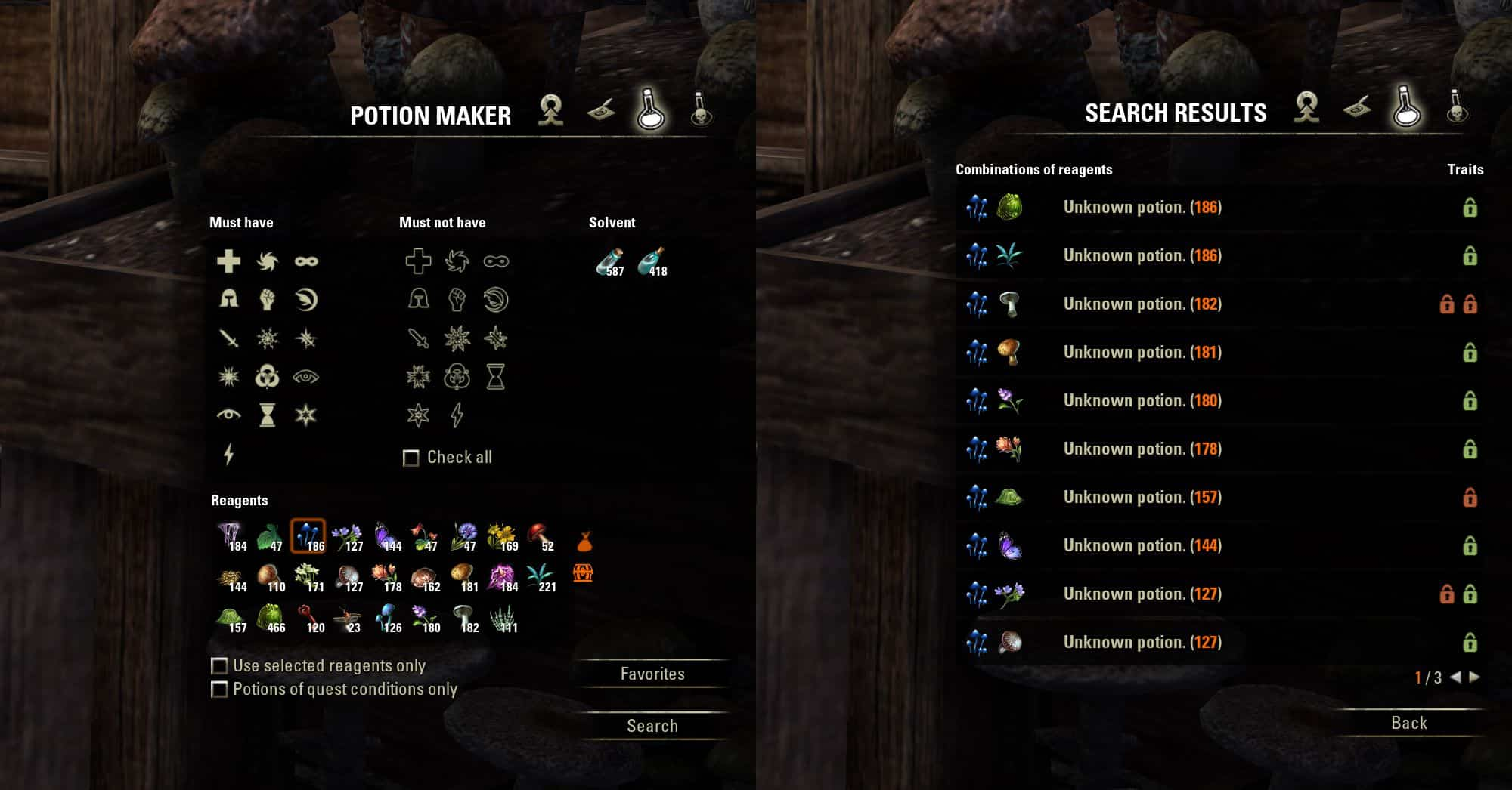 Potion Maker by facit, Khrill & votan, The Elder Scrolls Online Addon (image by @serpentaa)
