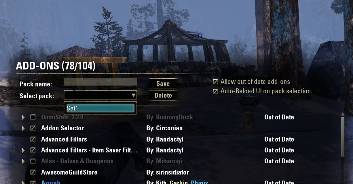 Circonians AddOn Selector by Baertram, The Elder Scrolls Online Addon (image by @serpentaa)