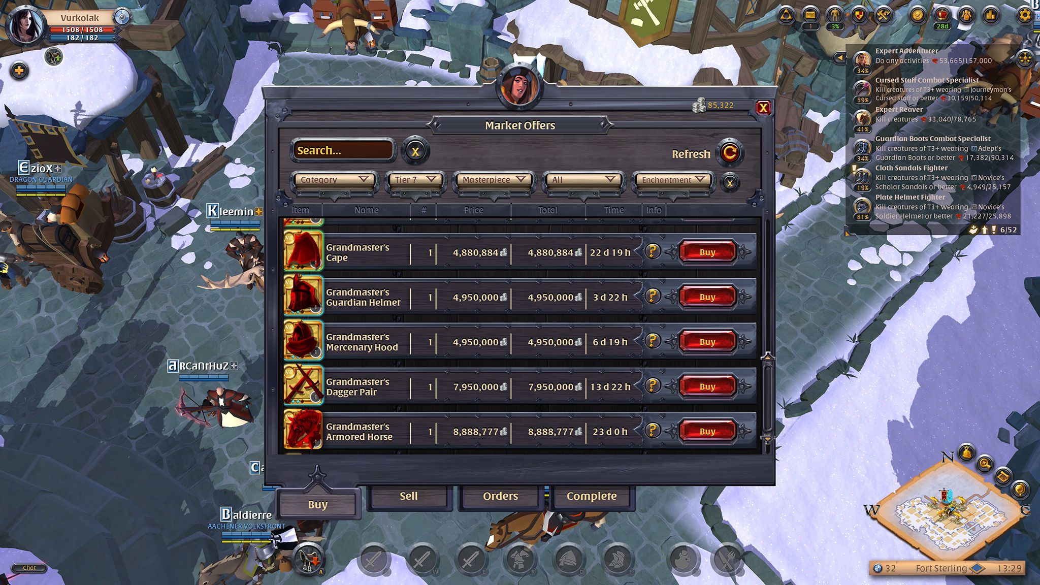 Marketplace Screen, Albion Online