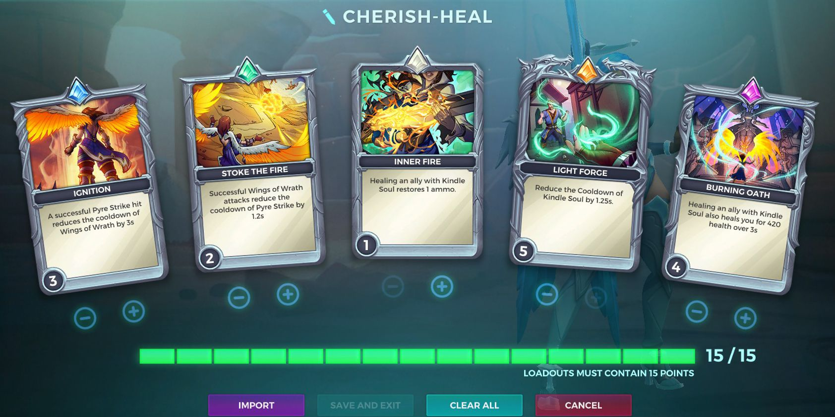 Furia, Cherish Talent, Healing Loadout, Paladins
