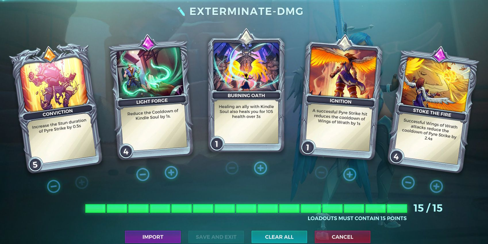 Furia, Exterminate Talent, Damage Loadout, Paladins