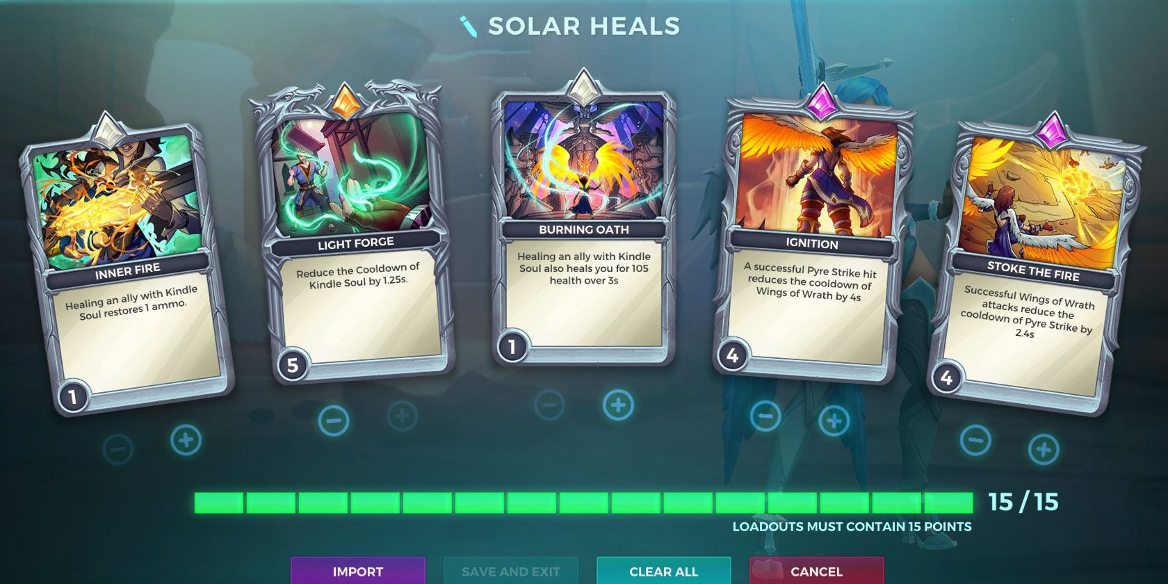 Furia, Solar Blessing Talent, Healing Loadout, Paladins