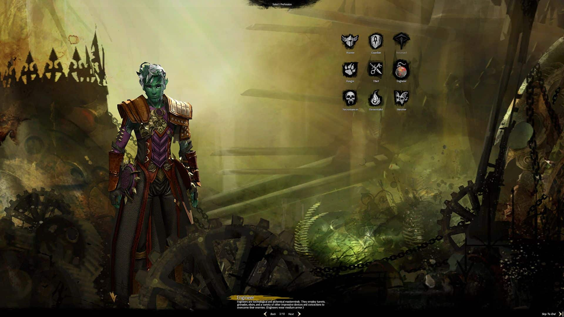 Male Sylvari Engineer, Guild Wars 2 Class