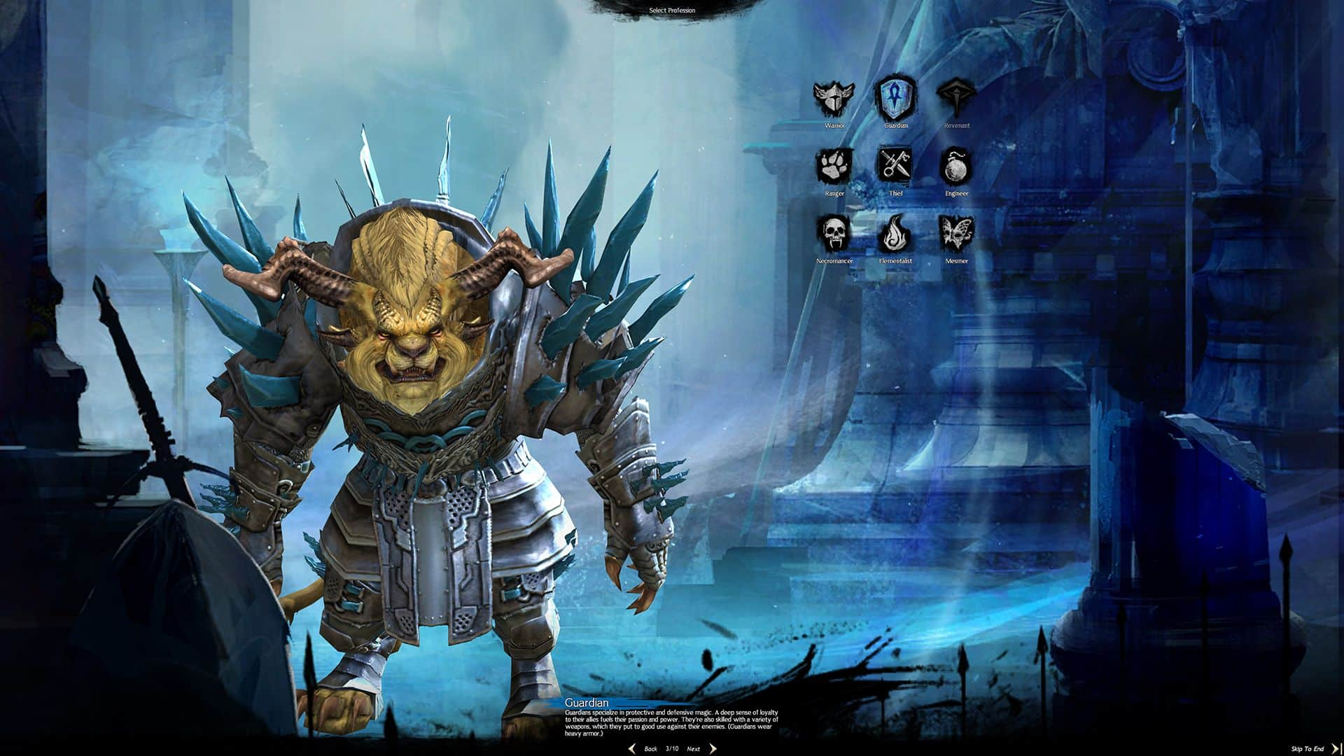 Charr Male Guardian, Guild Wars 2 Class