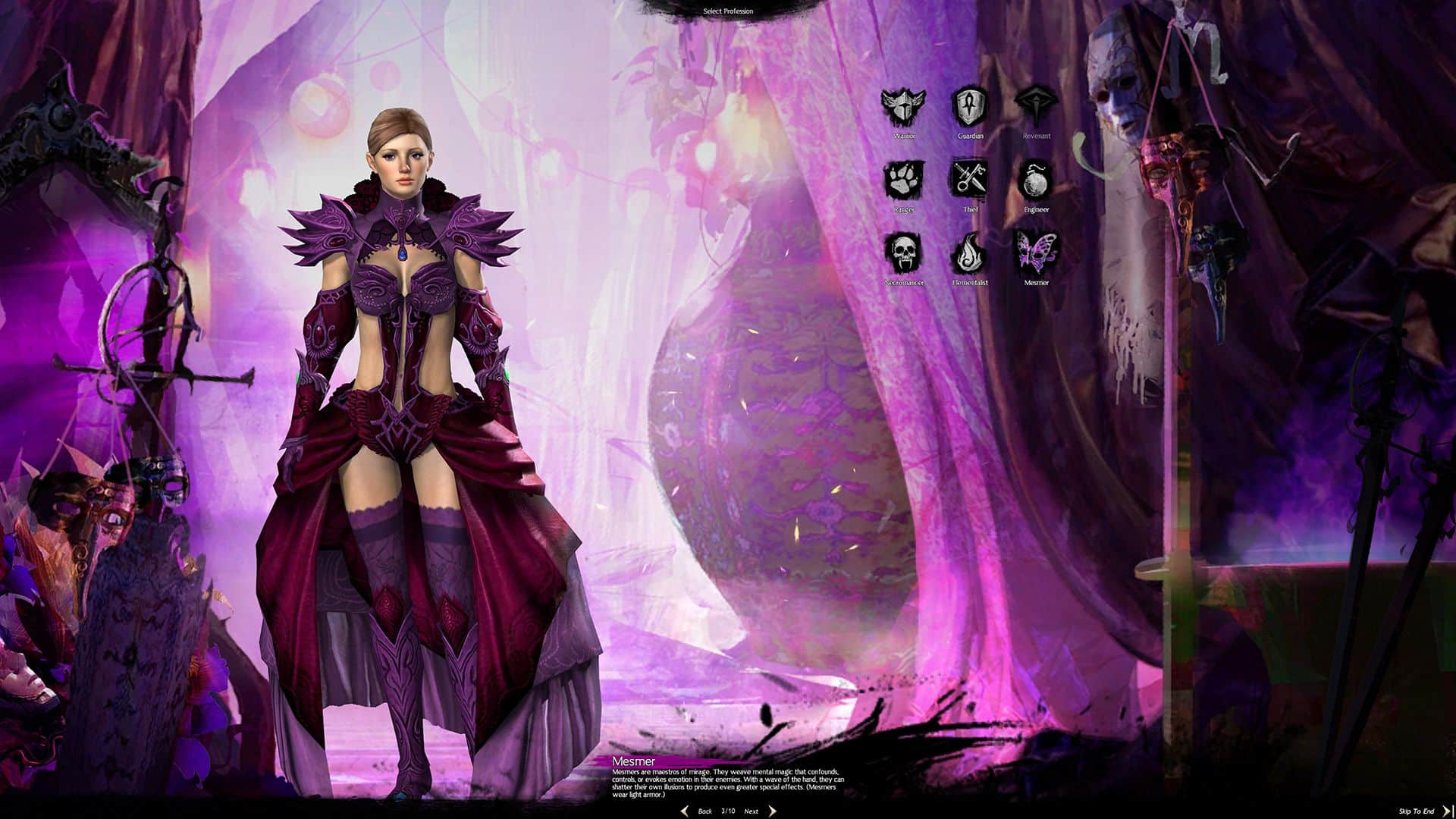 Female Norn Mesmer, Guild Wars 2 Class