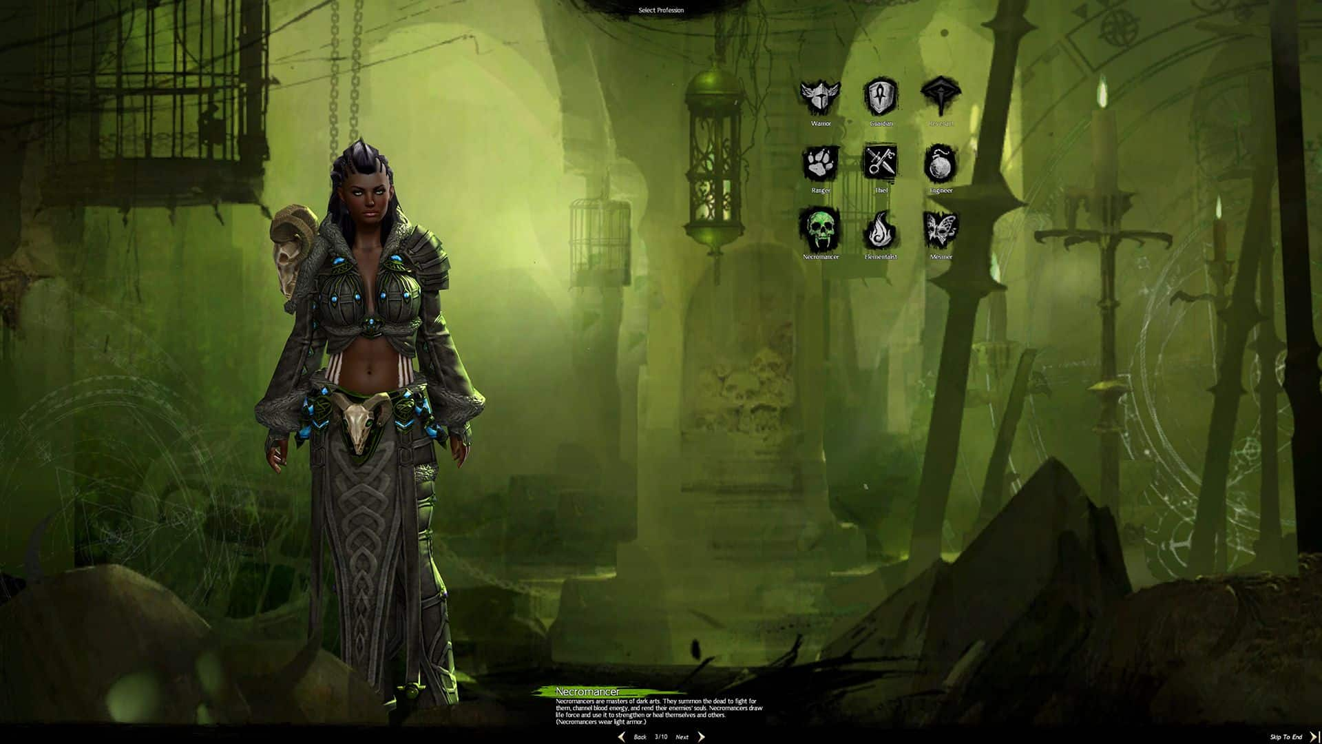 Female Norn Necromancer, Guild Wars 2 Class