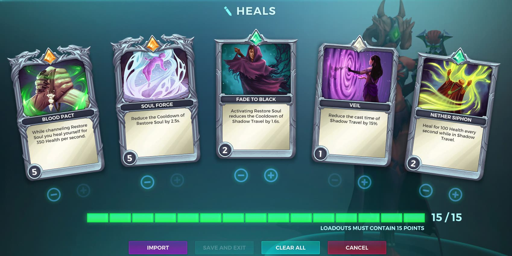 Mortal Reach Talent, Seris Heal Loadout, Paladins