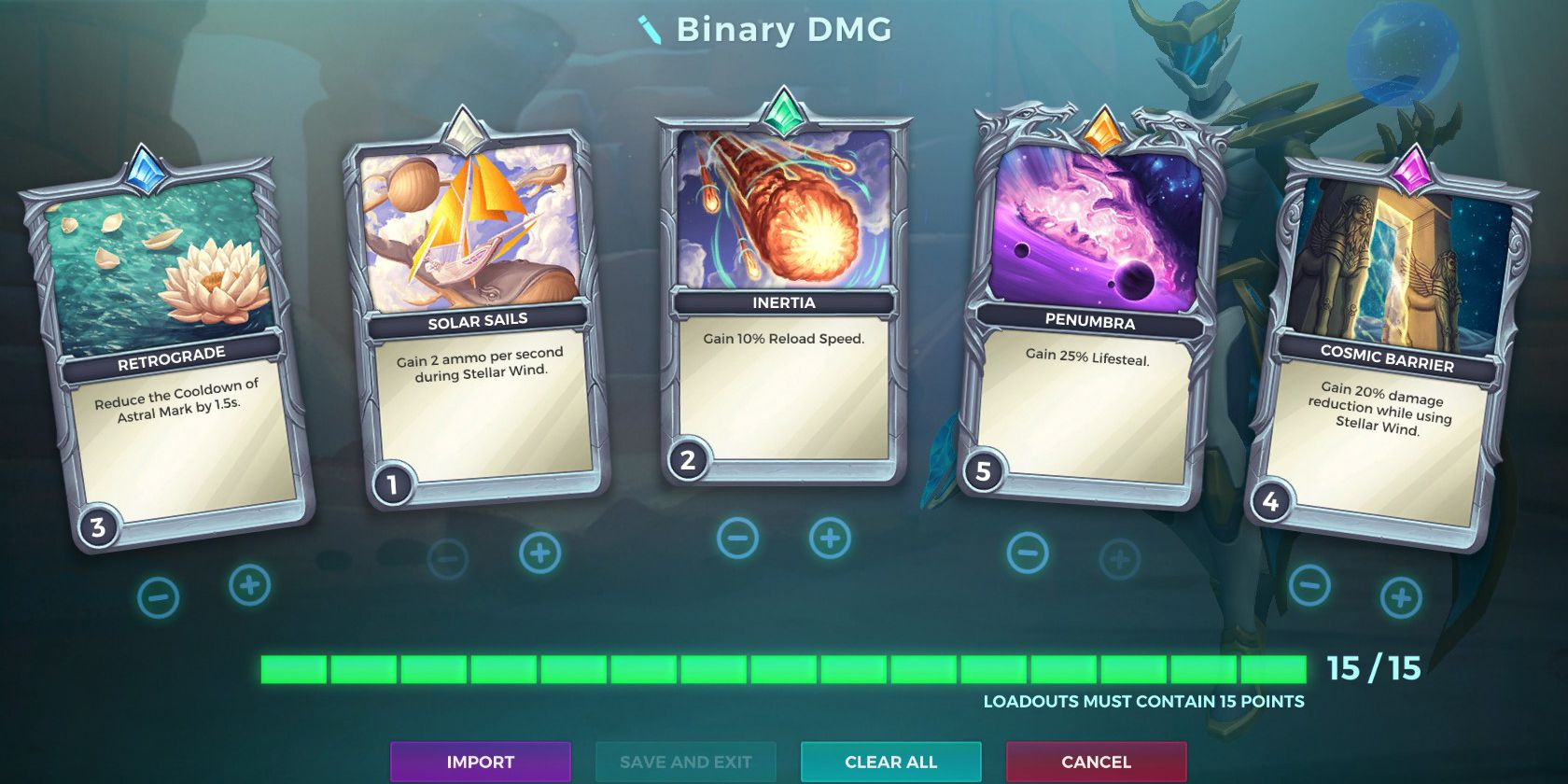 Jenos, Binary Star Ability, Damage Loadout, Paladins