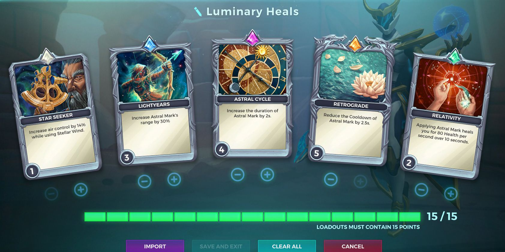 Jenos, Luminary Ability, Healing Loadout, Paladins