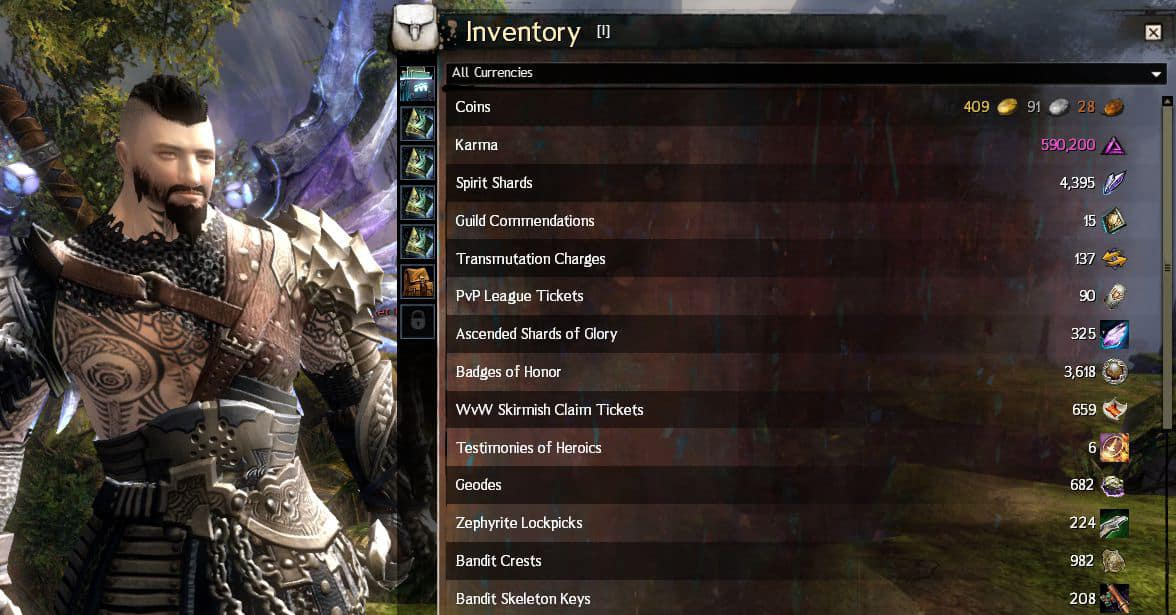 Guild Wars 2 All Currencies Pve Pvp Dungeons Keys Altar Of