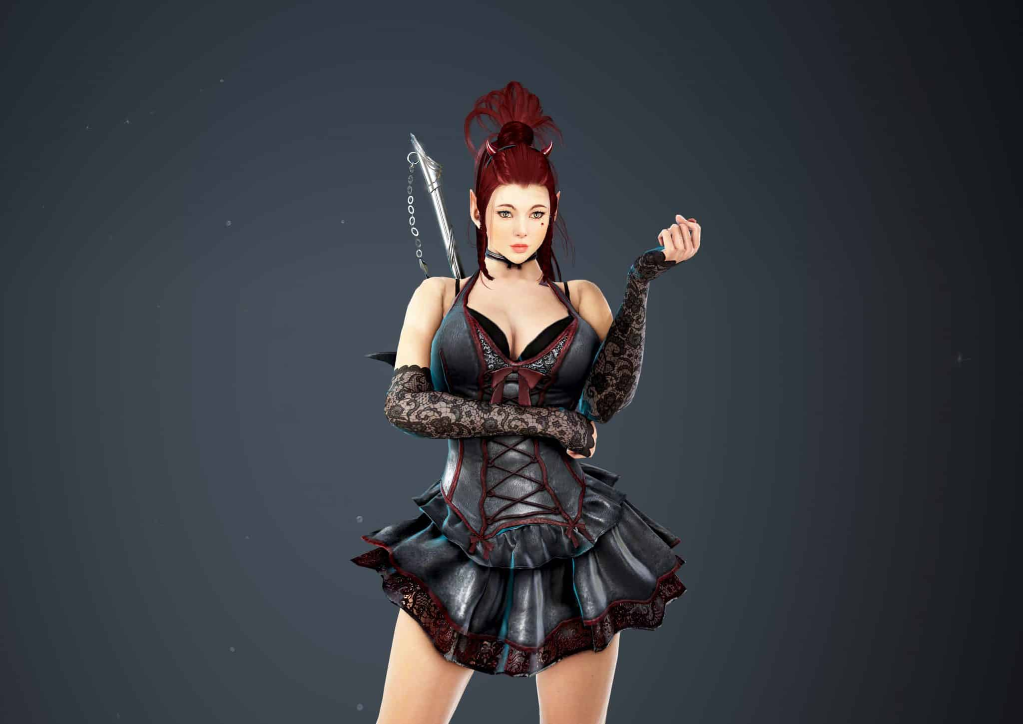 Dark Knight Bloody Dress, Bloody Outfit Set, Halloween 2018, Black Desert Online