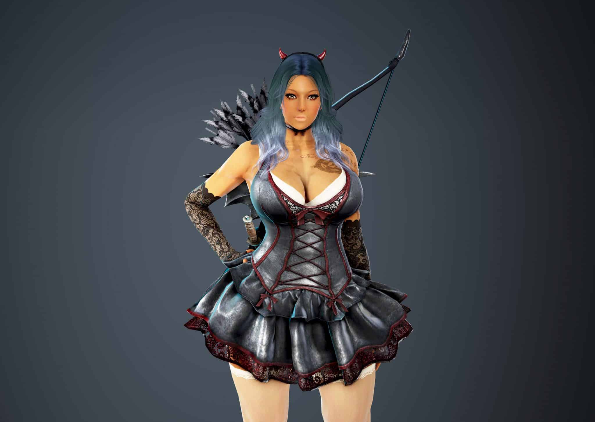 Ranger Bloody Dress, Bloody Outfit Set, Halloween 2018, Black Desert Online