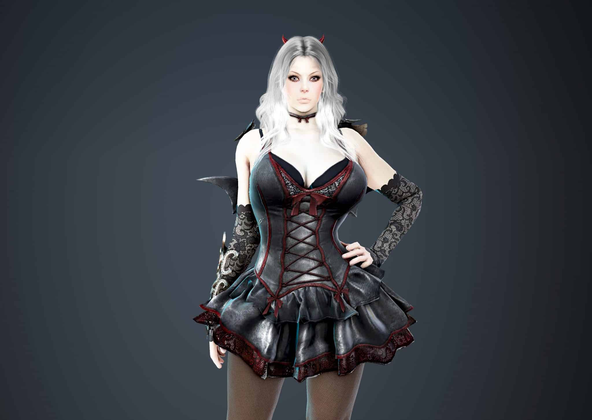 Sorceress Bloody Dress, Bloody Outfit Set, Halloween 2018, Black Desert Online