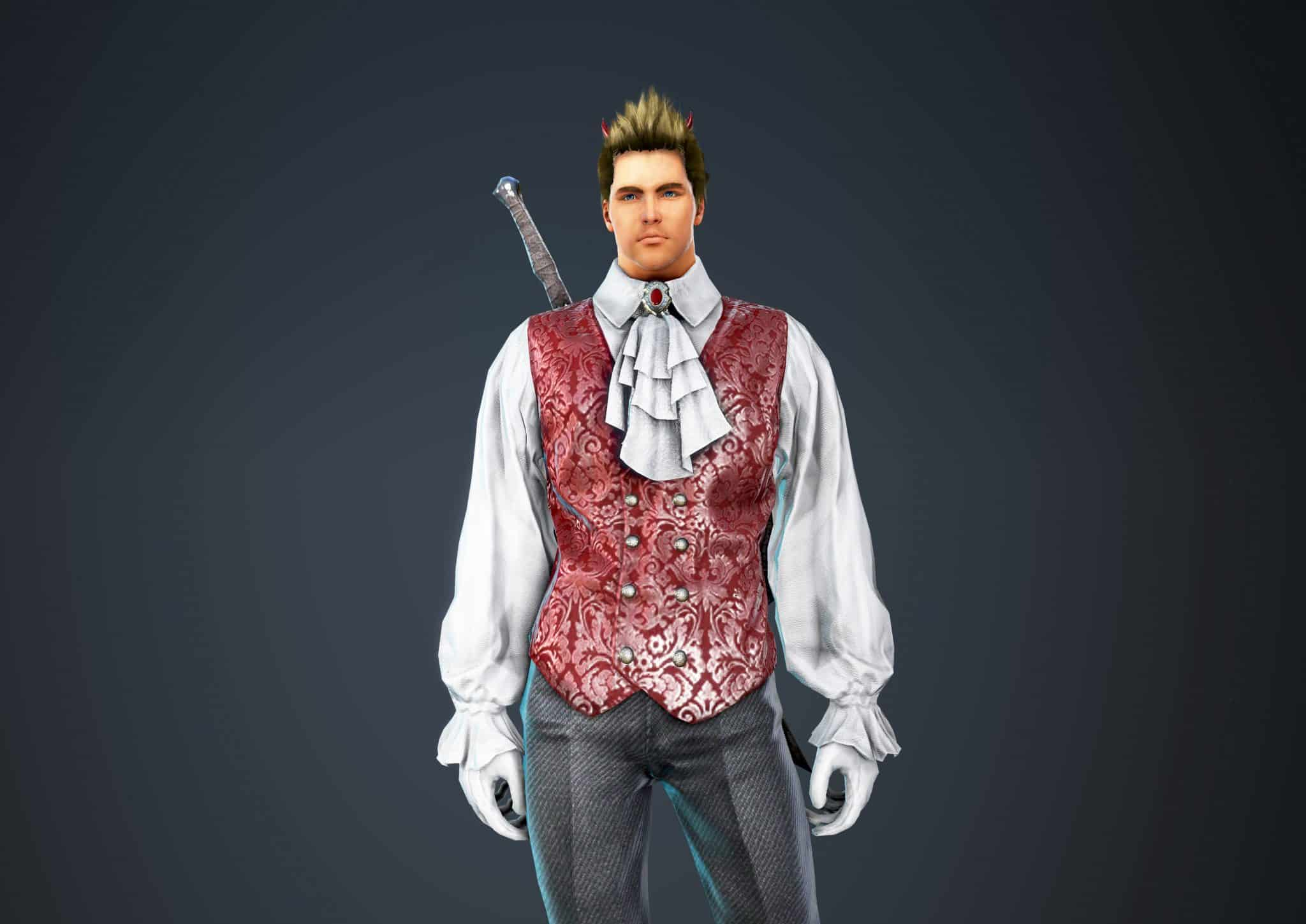 Warrior Bloody Suit, Bloody Outfit Set, Halloween 2018, Black Desert Online