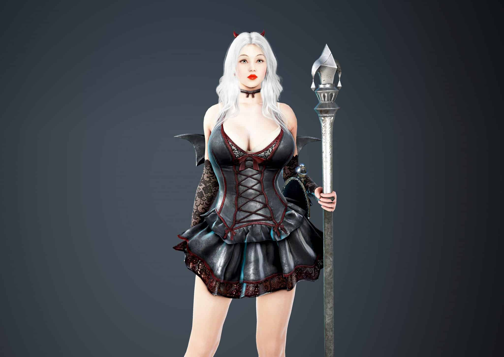 Witch Bloody Dress, Bloody Outfit Set, Halloween 2018, Black Desert Online