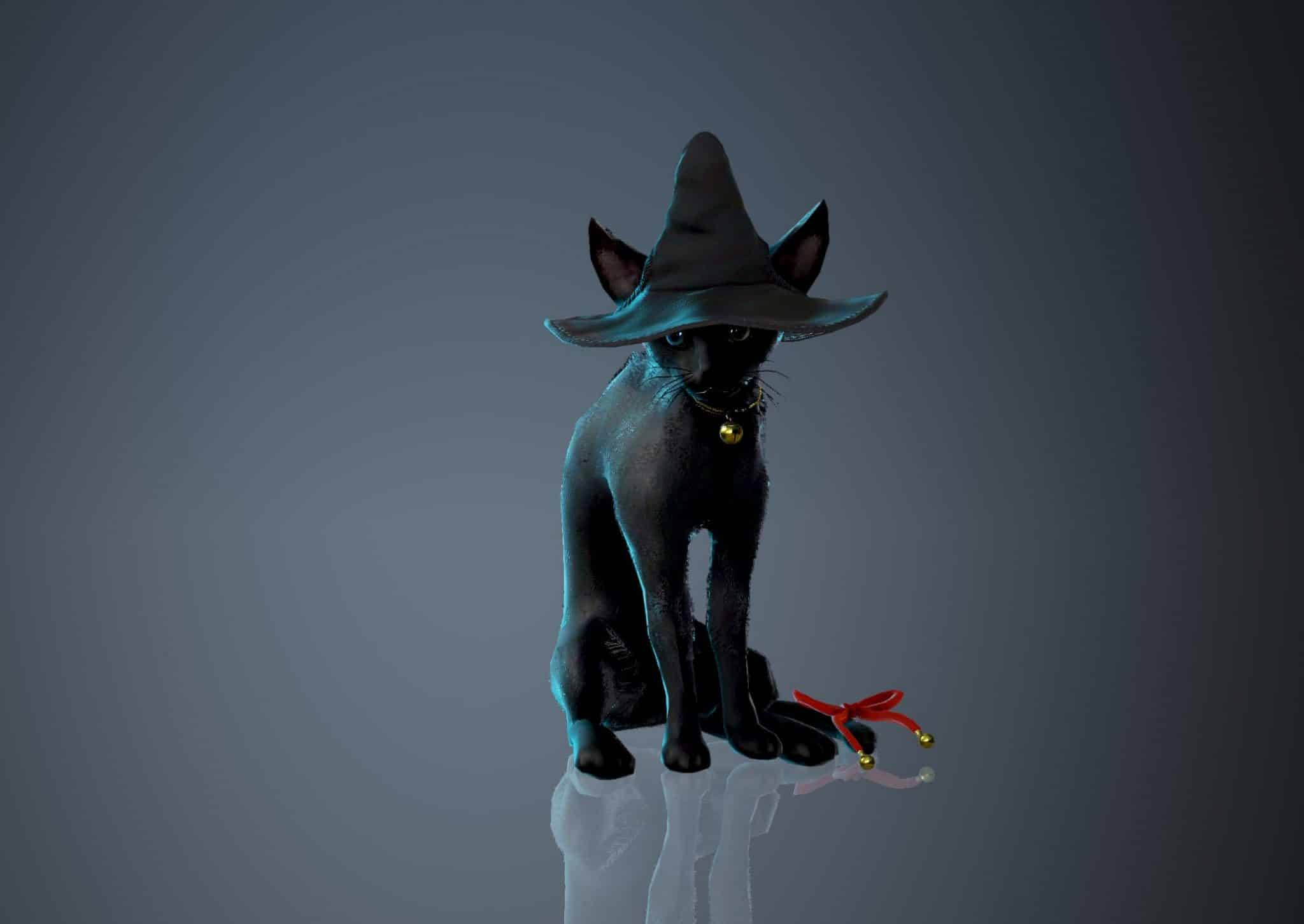 Witch Hat Charlotte Pet, Halloween 2018, Black Desert Online