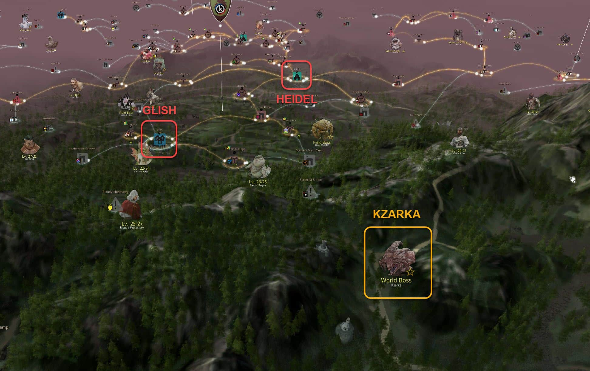 Kzarka Spawn Location, World Boss, Black Desert Online