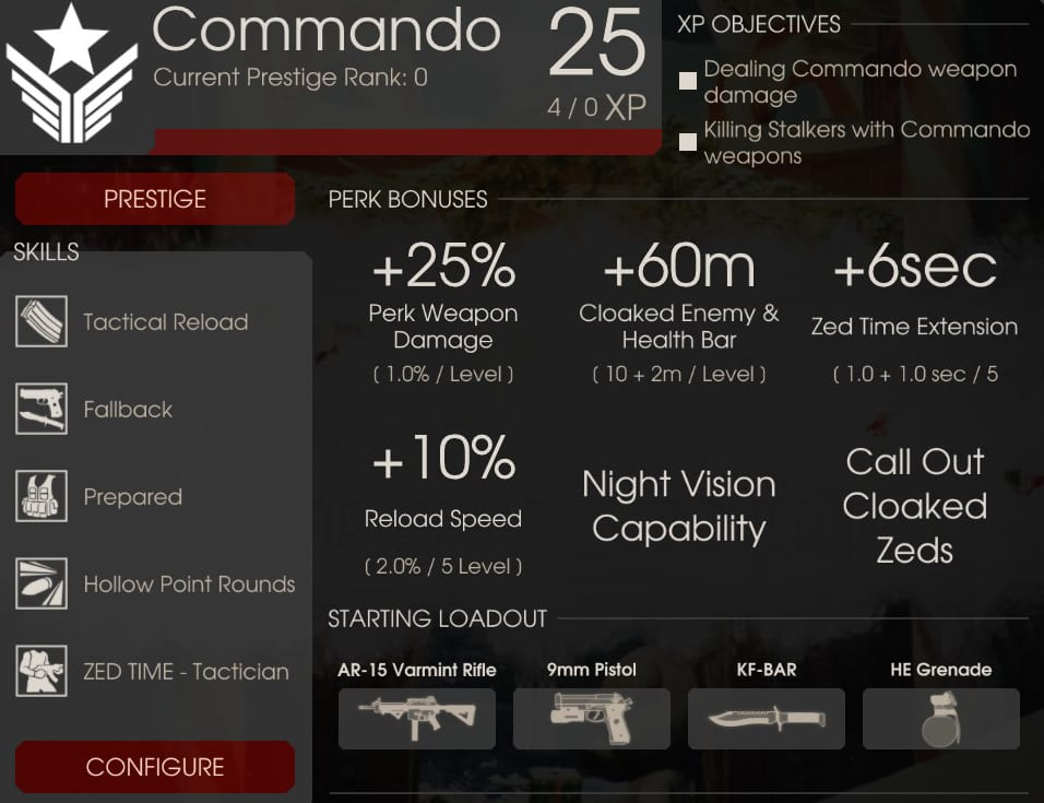 Commando Perk Overview, Killing Floor 2