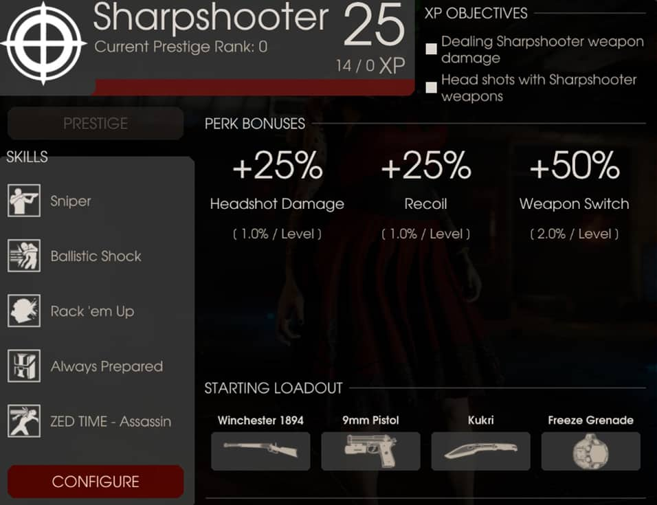 Sharpshooter Perk Overview, Killing Floor 2