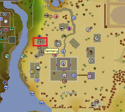 Al Kharid Tannery Map Location, Old School Runescape
