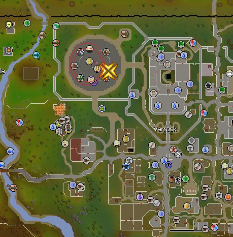 Grand Exchange Northwest of Varrock, Old School Runescape