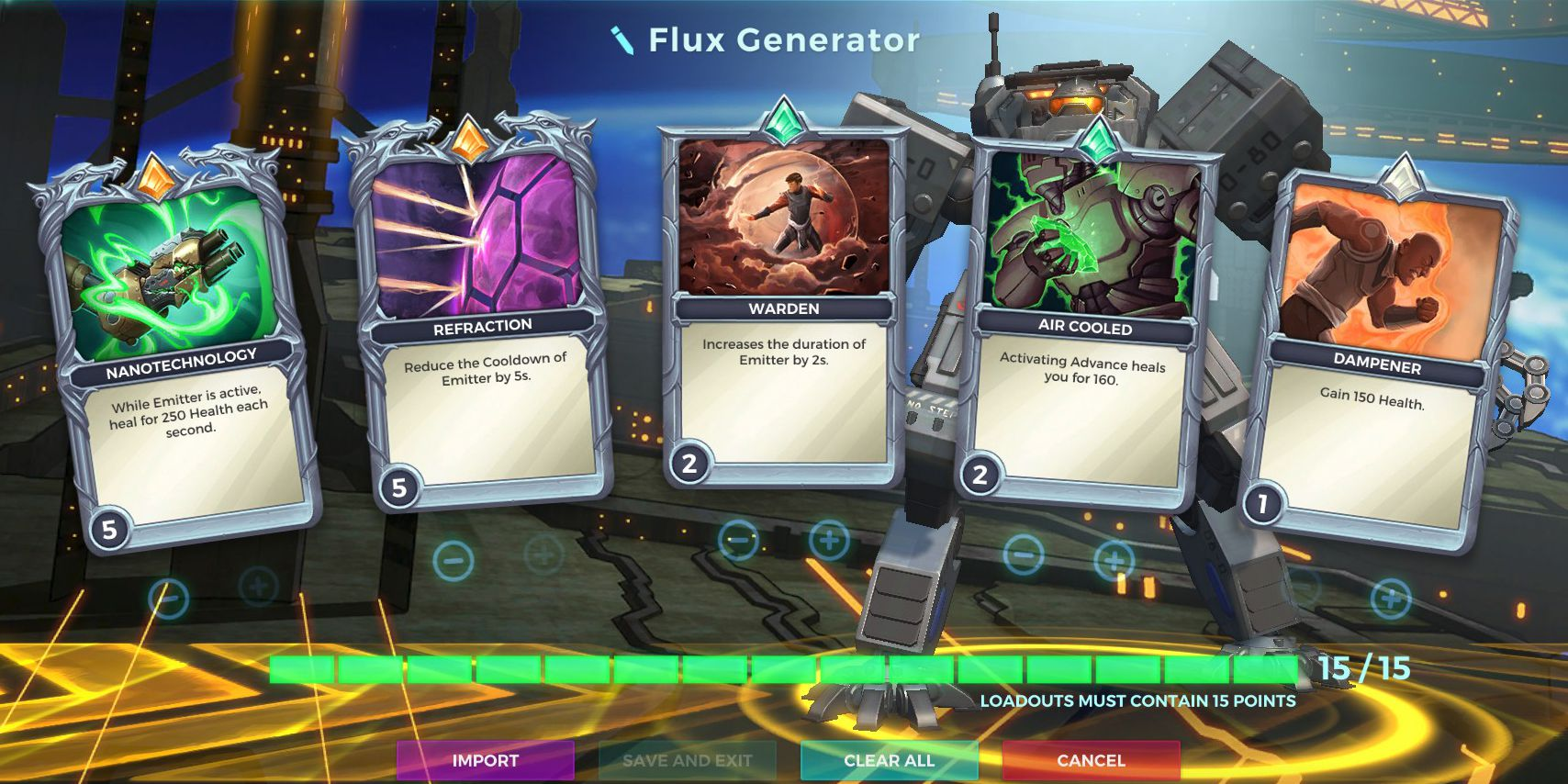 Flux Generator Talent, Ruckus Defensive Loadout, Paladins