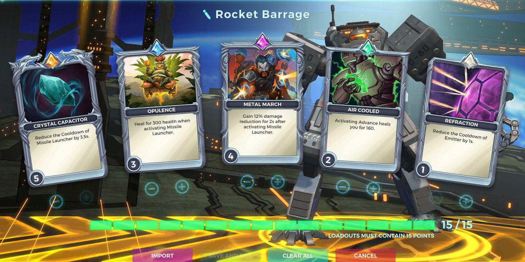 Rocket Barrage, Ruckus Offensive Loadout, Paladins