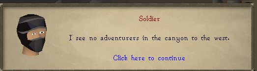 Shamans Scouting Soldier Message, Old School Runescape