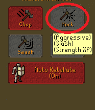 Aggressive Attack Style, Old School Runescape
