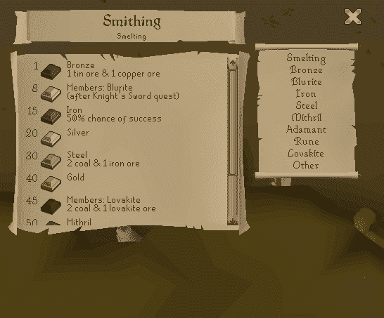 Old School Runescape - Skills Guide - Combat, Classes & Crafting