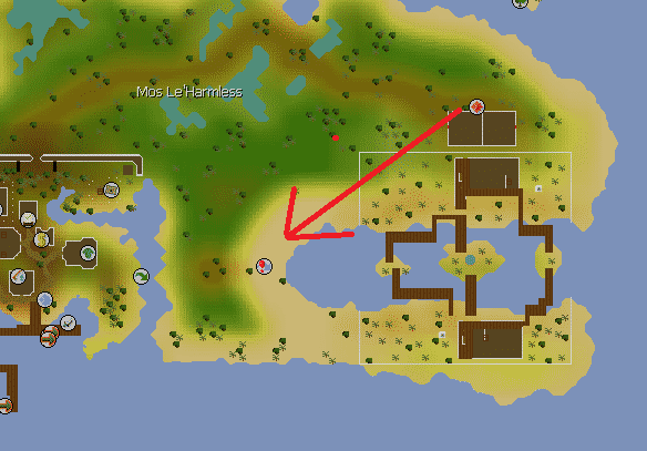 Route of Trouble Brewing to The Cave, Old School Runescape