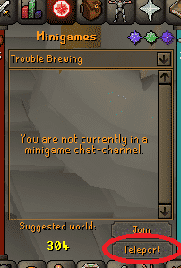 Trouble Brewing Teleport, Old School Runescape