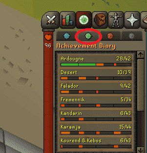 Achievement Diary, Old School Runescape