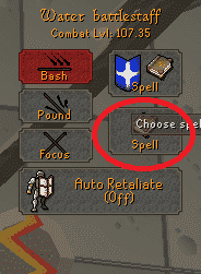 Magic Auto-Cast Style, Old School Runescape