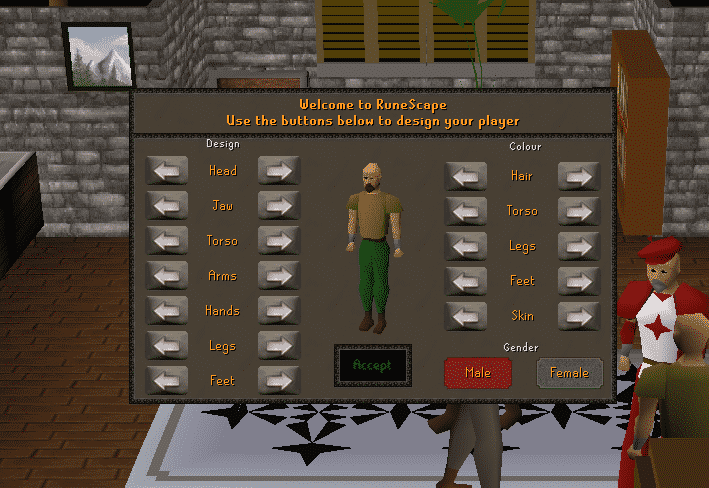 Character Creation, Old School Runescape