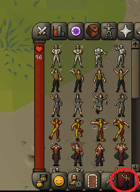 Emotes Tab, Old School Runescape