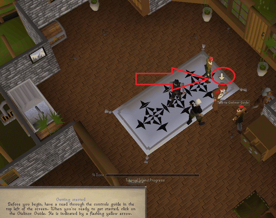 Flashing Yellow Arrow, Old School Runescape