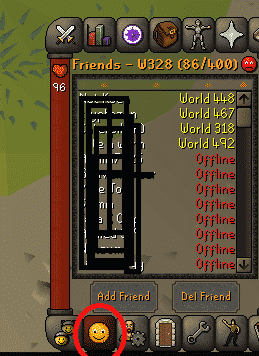 Friends List, Old School Runescape