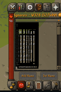 Ignore List, Old School Runescape