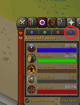 Kourend Favor, Old School Runescape