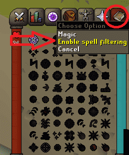 Magic Tab, Old School Runescape