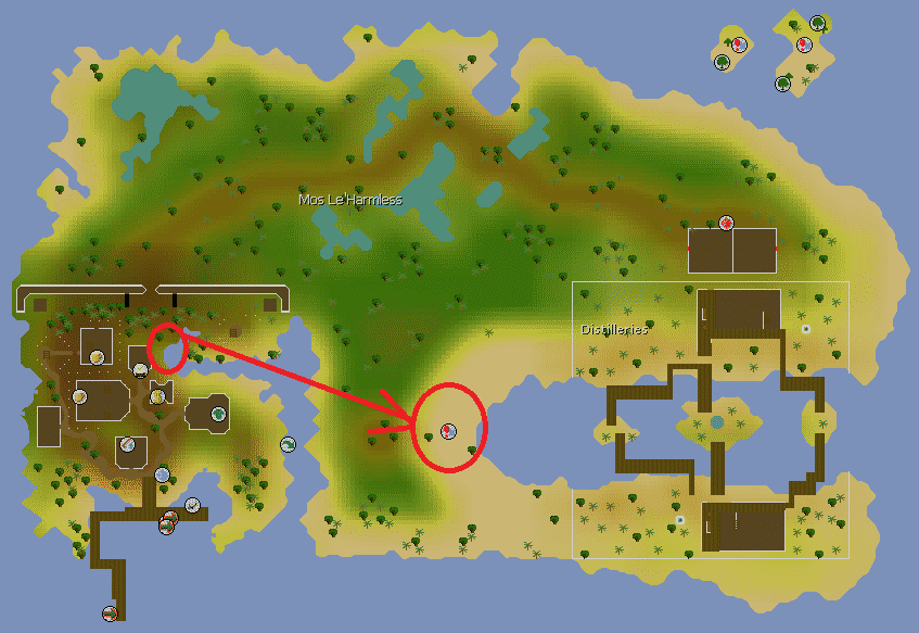 Route of Mos le'harmless Teleport to The Dungeon, Old School Runescape