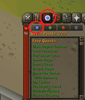 Quest List, Old School Runescape