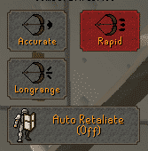 Ranged Attack Styles, Old School Runescape