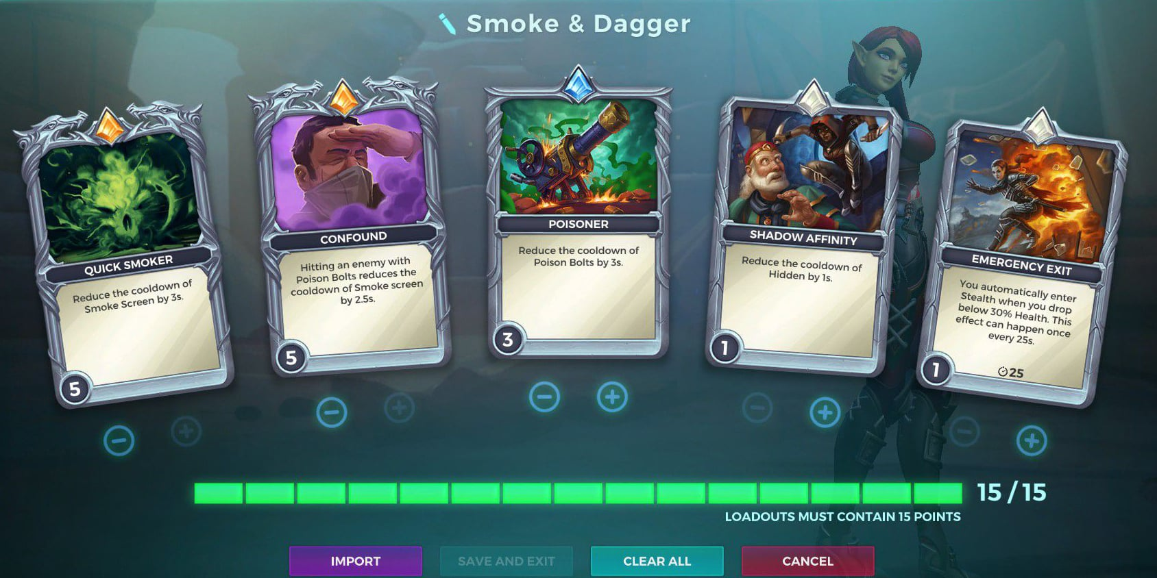 Skye, Smoke and Dagger Talent Loadout, Paladins