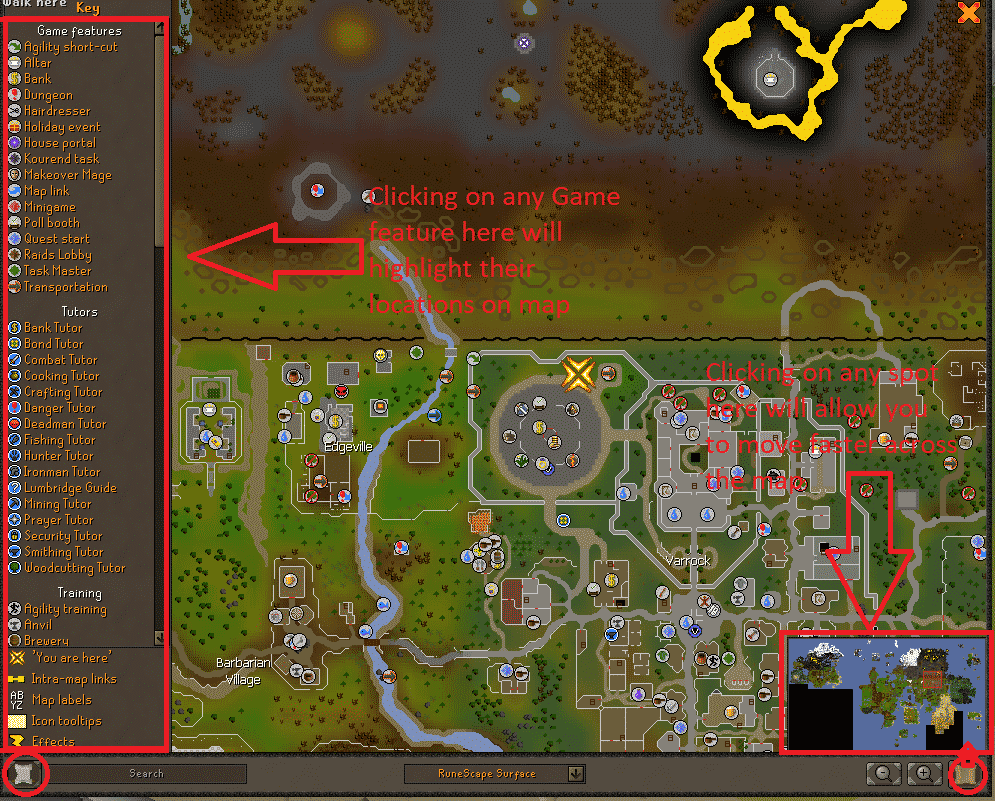 World Map, Old School Runescape